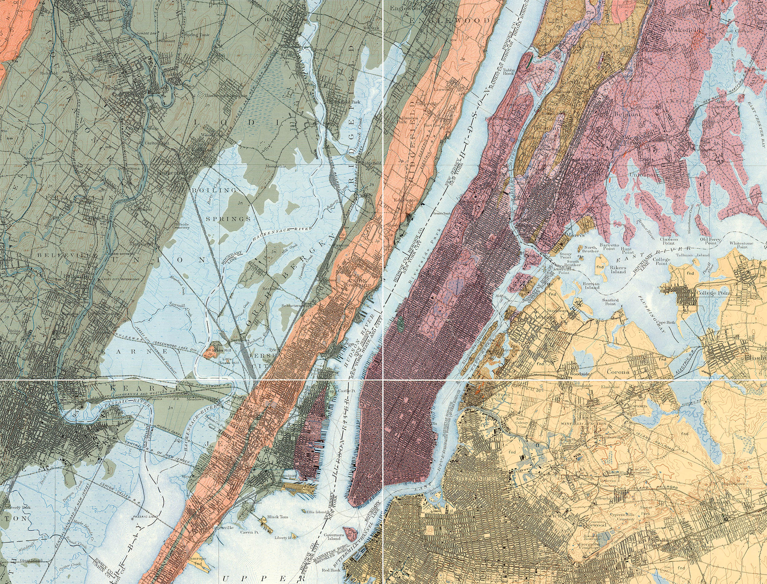 Geological Map Of United States.Nyc 99 An Historical Atlas Of New York City